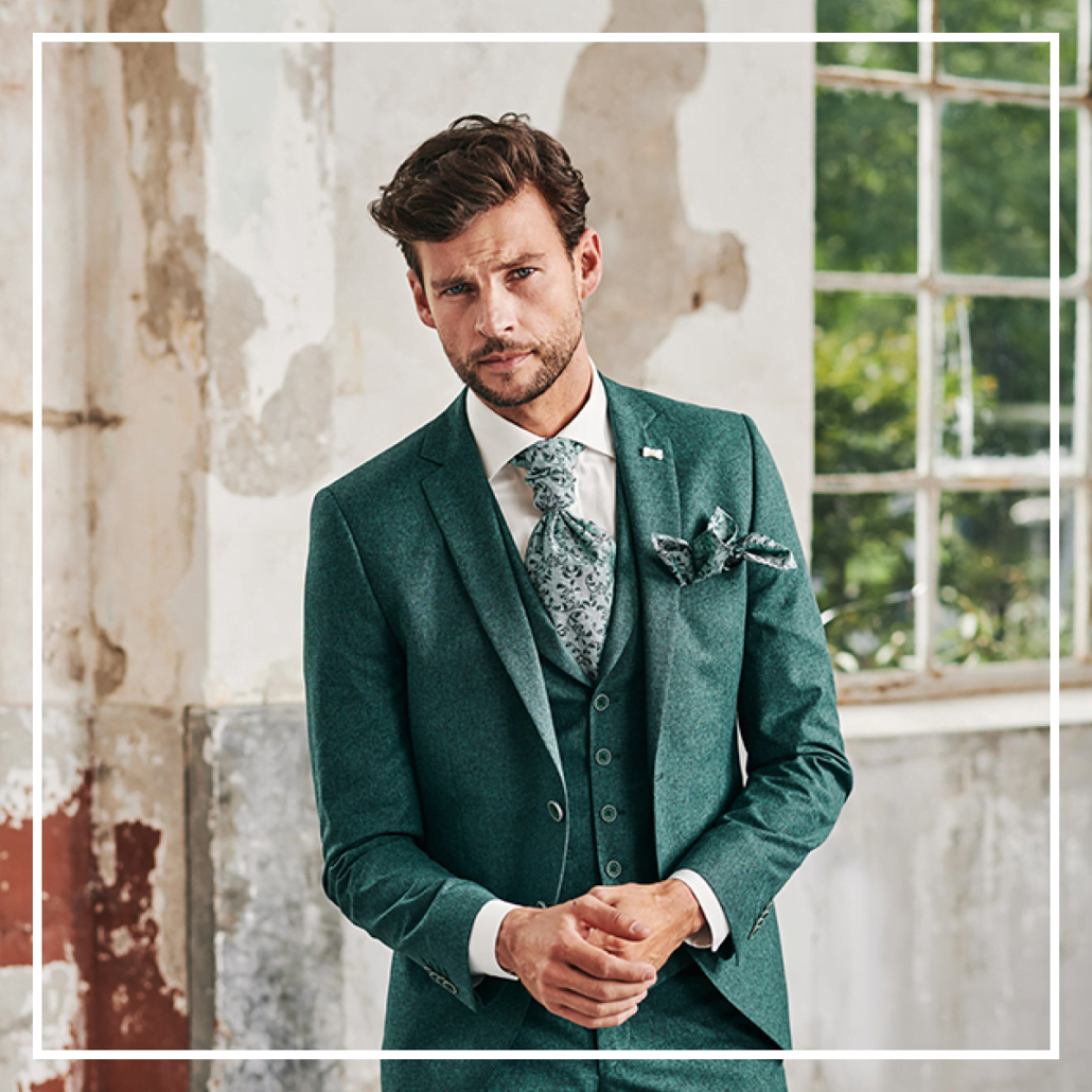groene trouwpakken black tie