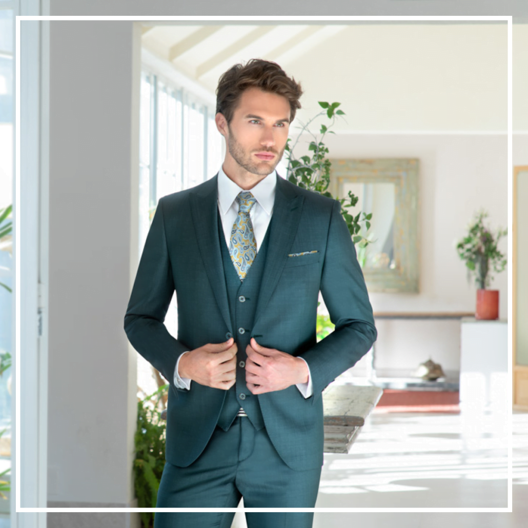 black tie enzo romano groene trouwpakken